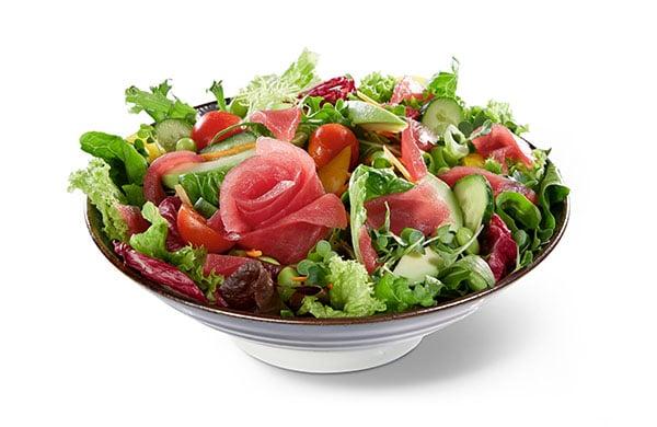 BENTO BOX Speisekarte - Thunfisch auf Salat