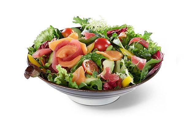 BENTO BOX Speisekarte - Thunfisch & Lachs auf Salat