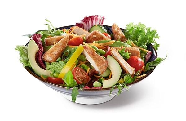 BENTO BOX Speisekarte - Tofu auf Salat