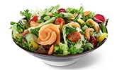 BENTO BOX Speisekarte - Lachs auf Salat